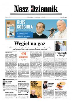 Sobota-Niedziela, 29-30 listopada 2014, Nr 277 (5119)