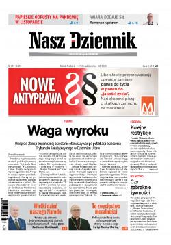 Sobota-Niedziela, 24-25 października 2020, Nr 249 (6907)
