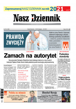 Sobota-Niedziela, 28-29 listopada 2020, Nr 278 (6936)